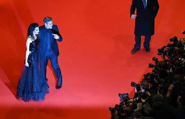 Джордж Клуни и с женой Амаль