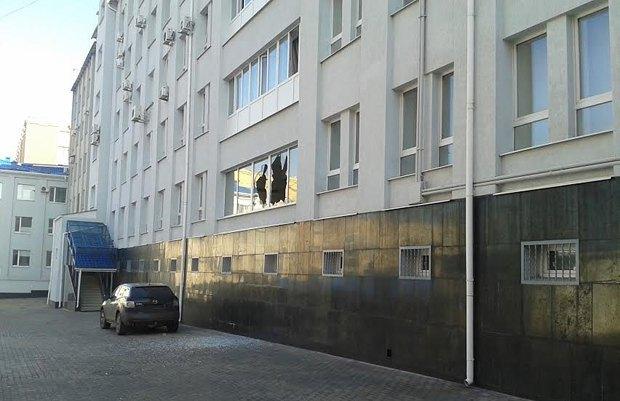 Здание СБУ после штурма