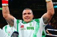 Усик выиграл дебютный бой в супертяжелом весе