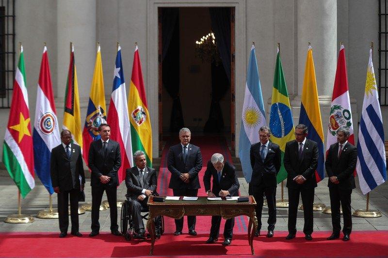 Президенти Південної Америки підписують декларацію про створення PROSUR