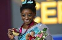 Американская гимнастка Байлз побила рекорд россиянки по количеству побед в личном многоборье на ЧМ