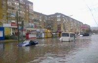 Сильные ливни затопили Кировоград