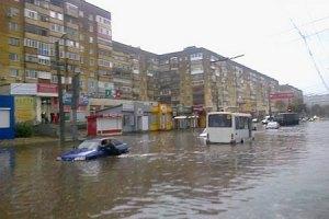 Сильні зливи затопили Кіровоград