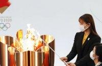 Факел олимпийского огня погас в первый же день эстафеты по Японии