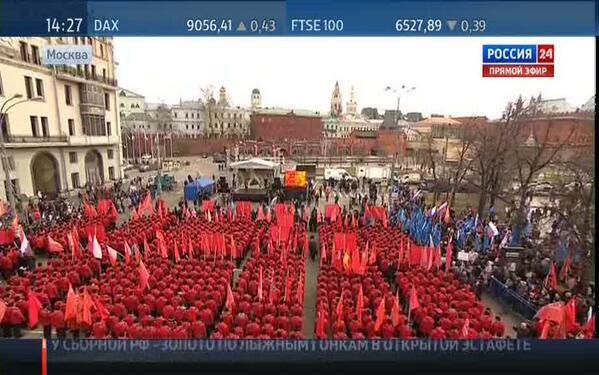 Мітинг на підтримку приєднання Криму