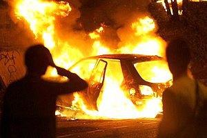 """Закарпатскому """"регионалу"""" сожгли BMW"""