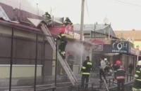 Пожар охватил центральный рынок Полтавы