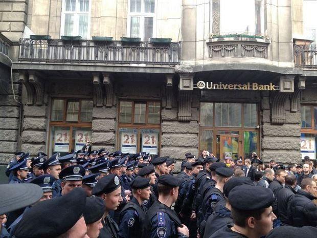 Кордон милиции на Улице Коперника
