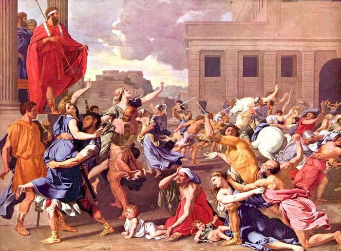 Николя Пуссен. Похищение сабинянок. 1637-38.