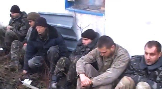 Пленные украинские военные с указанного видео в Красном партизане