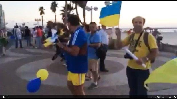 Акция в поддержку Украины на набережной Тель-Авива