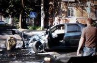 В ДТП с маршруткой в Мариуполе пострадали трое людей, один автомобиль сгорел