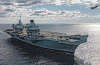 На британському авіаносці Queen Elizabeth на ковід захворіли понад 100 вакцинованих моряків