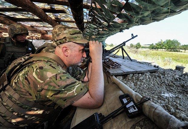 Турчинов поведал  опопытках оккупантов прорвать оборону сил АТО уБахмутки