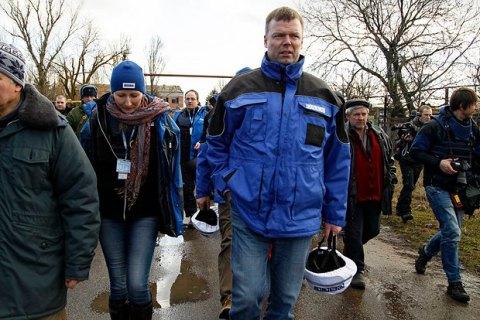 ОБСЕ отметила уменьшение числа обстрелов на Донбассе на треть
