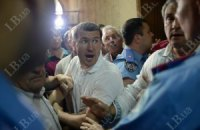 Активисты попытались пройти в комнату пыток в фастовском райотделе (ДОБАВЛЕНО ВИДЕО)