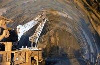 Строители прорыли километр нового Бескидского тоннеля