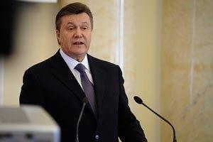 Янукович благодарит силовиков за раскрытие теракта