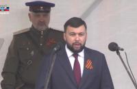 """Охоронець ватажка """"ДНР"""" Пушиліна прийшов на парад у формі НКВС"""