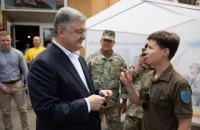 Порошенко: потрібно не допустити удару в спину українським воїнам