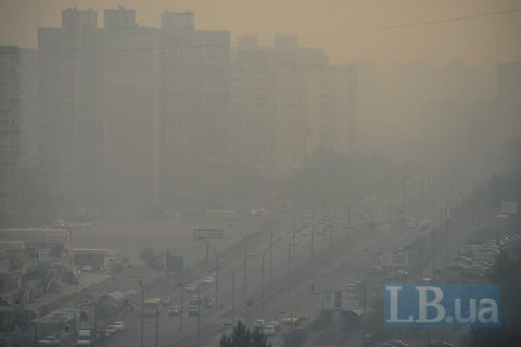 В Киеве зафиксировали превышение допустимой нормы загрязнения воздуха