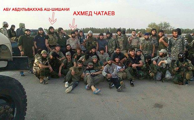 Чатаєв, Шишані разом з бойовиками чеченського батальйону на території Сирії