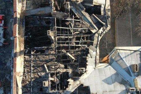 Под завалами сгоревшего одесского колледжа обнаружили тело женщины