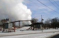 На территории меткомбината Ильича в Мариуполе произошел пожар
