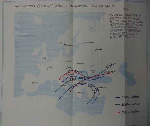Направления ветра по состоянию на 1 мая 1986 года