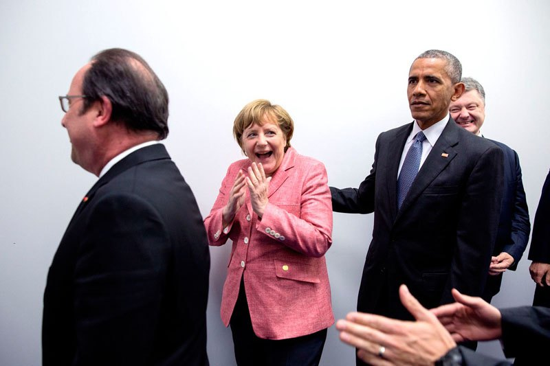 С федеральным канцлером Германии Ангелой Меркель. 9 июля 2016 года