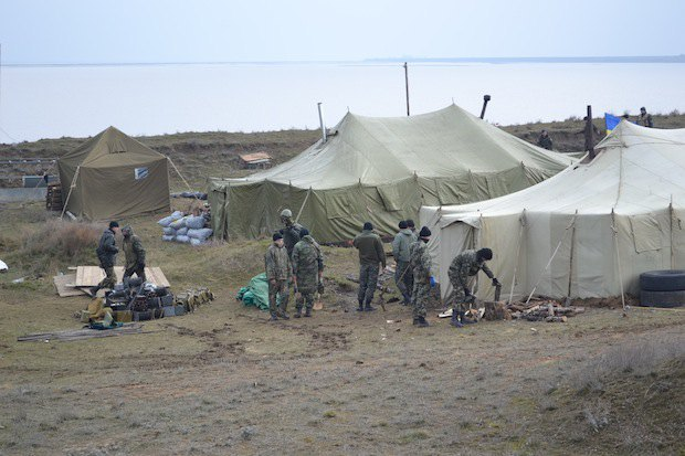 Украинский блок-пост на Сиваше