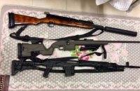 В центре Киева полиция изъяли арсенал оружия