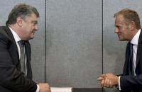 Порошенко и Туск скоординировали позиции по миротворческой миссии ООН на Донбассе