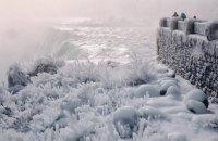 Через рекордно низьку температуру в Массачусетсі замерз Ніагарський водоспад
