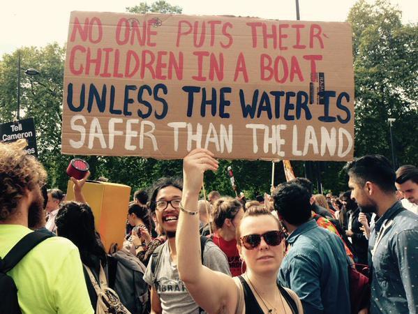Учасники маршу закликають до толерантності до біженців