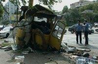 В Киеве маршрутка врезалась в осветительную опору: 17 человек серьезно пострадали