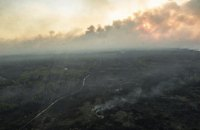 Рятувальники ліквідували два вогнища займання під Чорнобилем