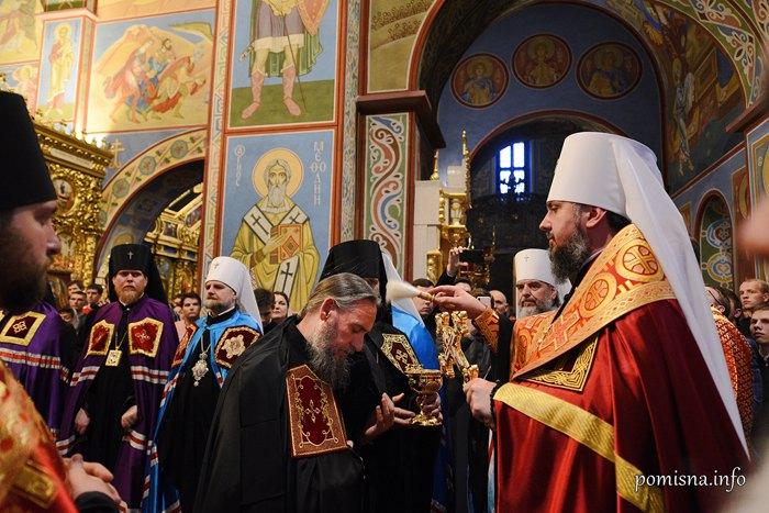 В Михайловском Златоверхом рукоположили архимандрита Епифания (Димитриу) на епископа Ольвийского, 26 мая 2019.