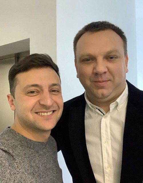 Максим Ткаченко та Володимир Зеленський