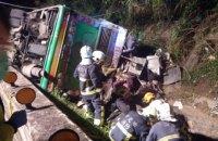 На Тайване разбился автобус с туристами