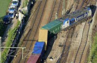 В Германии сошел с рельсов грузовой поезд