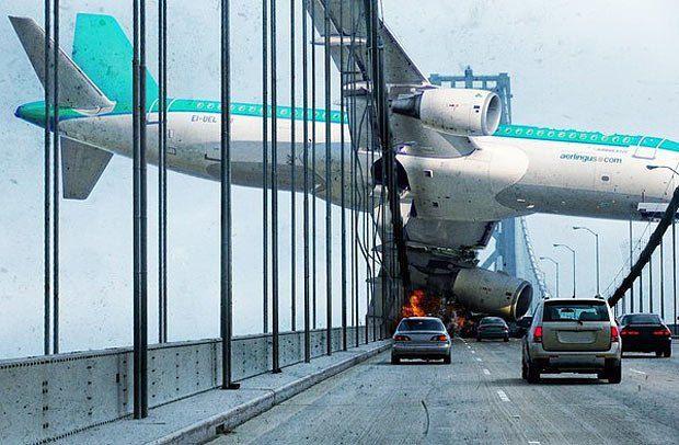В первые несколько минут и часов , на землю начнут падать неуправляемые самолёты