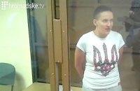 За неделю голодовки Савченко потеряла 5 кг