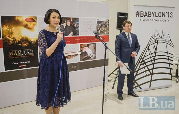 Соня Кошкина и Владимир Застава, руководитель медиа-депаратамента Института Горшенина