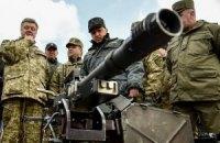 Порошенко провел смотр военной техники
