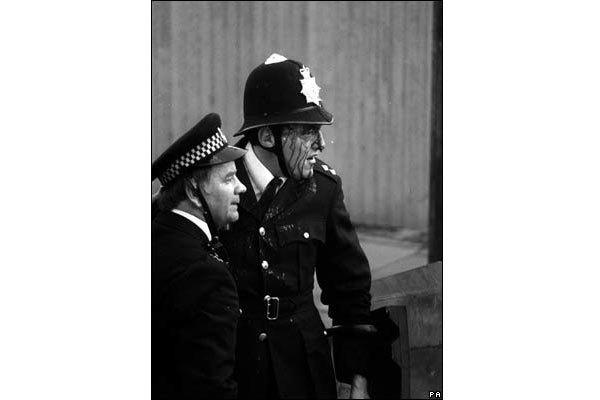 Поранений поліцейський під час заворушень
