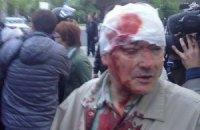У Донецьку невідомі напали на учасників мирної ходи за єдність