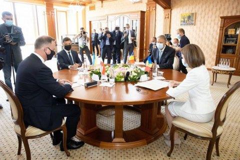 """Зеленський: проєкт """"Асоційоване тріо"""" має наблизити Україну, Грузію та Молдову до набуття повноправного членства в ЄС"""