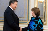 Янукович встретился с Эштон