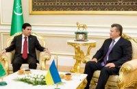 Янукович доволен результатами переговоров с Бердымухамедовым